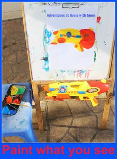 Learn with Play at home: Paint What You See Activity. A  great way to get children painting with a difference and learning a LOT along the way. (Guest post from Adventures at Home with Mum.)