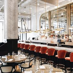 """""""Bright, bold and beautiful,"""" is what @bellemorechicago says, and we couldn't agree more! Leave it to us but we think Chicago has the best of restaurant interiors. #JCweekenders [Photo: @johnstoffer]"""