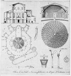 Plans (drawings), section, Church of San Vitale