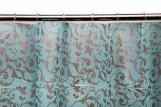 Cortina de Baño Arabescos Azul 180 x 180cm  - 10€