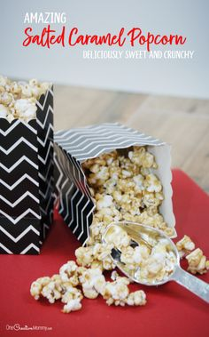 Once you've tried this amazing salted caramel popcorn, you'll never use another recipe. This is seriously the best caramel popcorn ever! Gluten Free Recipes For Kids, Fun Easy Recipes, Gluten Free Treats, Holiday Desserts, Just Desserts, Dessert Recipes, Christmas Recipes, Yummy Snacks, Delicious Desserts