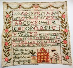 "Photos and detailed descriptions from the 2011 ""Samplers International: a world of needlework"" exhibition are online at http://www.bentoncountymuseum.org/samplers/"