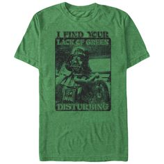 If you are a super fan or know someone who is into Star Wars and St. Patty's Day this I Find Your Lack of Green Disturbing T-Shirt is the perfect gift and only $19.95 with free shipping on any order of $75 or more.