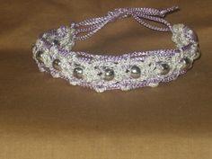 Macrame Bracelet Violet Sparkle $8