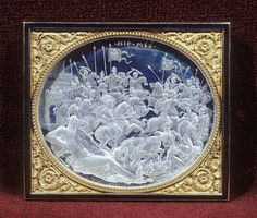 The Battle of Pavia in an engraved rock crystal cameo relief commissioned by Cardinal Ippolito de' Medici, by Giovanni Bernardi, Rome, c 1531-35 (Walters Art Museum)