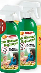 Safe N Natural Bug Spray |  1934+ As Seen on TV Items: http://TVStuffReviews.com/safe-n-natural-bug-spray