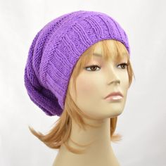 5698b106083 Slouchy Beanie Knitted Hat Slouchy Hat Handmade by SlouchyBeanie Slouchy  Beanie