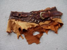 """Huntress Utility Belt 33-38"""" -- leather barbarian woodland viking tribal fusion recycled by ArchaicLeatherworks on Etsy https://www.etsy.com/listing/217055796/huntress-utility-belt-33-38-leather"""