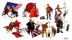 Hetalia countries and bosses by Phobs.deviantart.com on @deviantART ✤ || CHARACTER DESIGN REFERENCES | キャラクターデザイン | çizgi film • Find more at https://www.facebook.com/CharacterDesignReferences & http://www.pinterest.com/characterdesigh if you're looking for: #grinisti #komiks #banda #desenhada #komik #nakakatawa #dessin #anime #komisch #manga #bande #dessinee #BD #historieta #sketch #ww2 #cartoni #animati #comic #nazist #nazi #cartoon || ✤