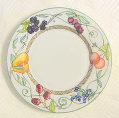 Dansk Salad Plate Umbrian Fruits Dinnerware Portugal #DanskInternationalDesignsLTD