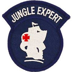 Jungle Expert Patch. On 1 July 1970, the U.S. Army (JOTC) Jungle Operations Training Center was placed under the operational control of the 8th Special Forces Group (Abn) at Fort Sherman, Panama. Military Units, Military Life, Military Army, Airborne Army, Army Infantry, Special Forces Patch, 7th Infantry Division, Us Army Patches, Us Army Rangers