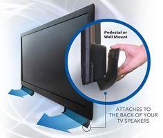 Get a set of Soundscoopz TV-speaker helpers