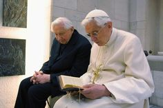 """""""How good it is for brothers to dwell in unity....""""   Pope Benedict and his brother Msgr. Georg Ratzinger"""