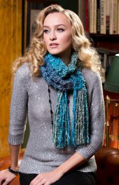 Easy Garter Stitch Scarf Free Knitting Pattern from Red Heart Yarns