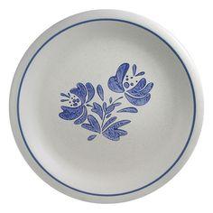 Pfaltzgraff Blue/gray Yorktowne Stoneware 4 Dinner Plates
