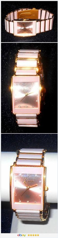 Pink Ceramic Watch Crystal Quartz Movement Valentines Day #EBAY http://stores.ebay.com/JEWELRY-AND-GIFTS-BY-ALICE-AND-ANN
