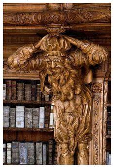 Library in the Monastery of Waldsassen, Bavaria, Germany.