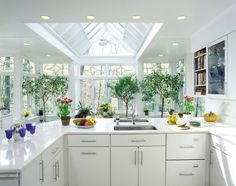 Kitchen Photos Conservatory Kitchen Design Ideas, Pictures, Remodel, and Decor Conservatory Kitchen, Greenhouse Kitchen, Build A Greenhouse, Building A Kitchen, Building A House, Skylight Glass, Glass Ceiling, Kitchen Photos, Kitchens