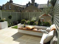 Urban Garden Design South London Suntrap, Design by Living Gardens - Back Garden Design, Modern Garden Design, Contemporary Garden, Landscape Design, Casa Patio, Backyard Patio, Backyard Landscaping, Backyard Ideas, Patio Fence