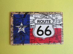 Vintage Souvenir Wooden Texas Route 66 Postcard by euphoriaresale, $8.00