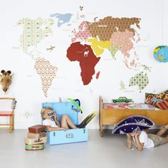 Mr Perswall - Whole WIde World Children's Wallpaper