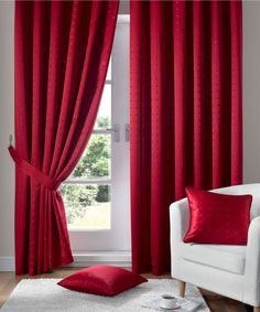 beautiful red curtains