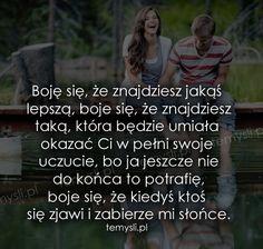 TeMysli.pl - Inspirujące myśli, cytaty, demotywatory, teksty, ekartki, sentencje Texts, Wattpad, Words, Funny, Quotes, Quotations, Funny Parenting, Captions, Hilarious