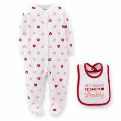 #valentinesday #daddysgirl #hearts #red #onesie