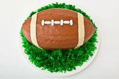How to make a Football Birthday Cake
