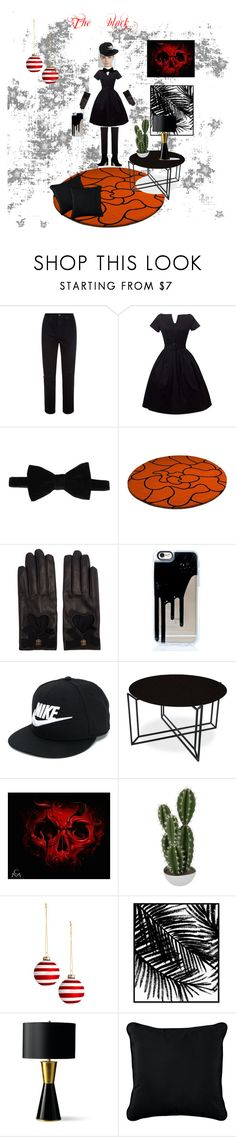 """""""The black - créé par mon fils Gabriel 7 ans"""" by carole-lemouellic ❤ liked on Polyvore featuring AG Adriano Goldschmied, HUGO, Gucci, NIKE, Bloomingdale's, Abigail Ahern, Oliver Gal Artist Co., Frontgate and Improvements"""
