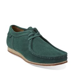 Wallabee Run in Emerald Green Suede - Mens Shoes from Clarks