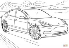 Image Result For Tesla Car Coloring Pages