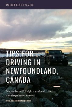 Driving is a must if you're visiting Newfoundland since so many beautiful spots are scattered all over the island. Here are some tips for driving in Newfoundland. Stay safe and enjoy the view! Newfoundland Canada, Newfoundland And Labrador, Gros Morne, Solo Travel Quotes, Nature Sauvage, Canada Destinations, East Coast Road Trip, Single Travel, Visit Canada