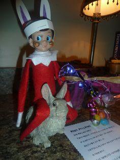 """Hoppy Easter"" from Fred, the Elf!"