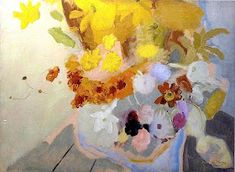 September Flowers by Ivon Hitchens. September Flowers, Paint Photography, Painting Still Life, Figurative Art, Painting Inspiration, Flower Art, Art Projects, Drawings, Portraits