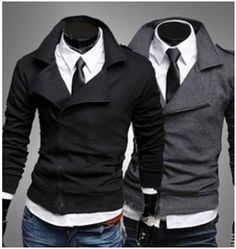 Men's Casual Double Breasted Zipper Jacket