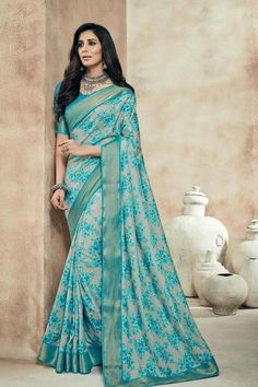 Description: Affiliate your highly sophisticated attitude in this classy saree to create a voguish royal image of yourself. This Art Silk crafted saree features trendy Printed with lace border work, making it an ideal pick for the present day women.Product Title:Grey Art Silk Printed Saree-17515Product Type: Printed SareeColor: Saree - Grey, Blouse - Sky BlueFabric: Saree - Art Silk, Blouse - Art SilkSize: 6.3 Meter (5.50 Meter saree & 0.80 Meter blouse)Occasion: PartyPackage Content: 1 S...