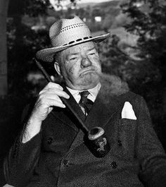 W. C. Fields with a pipe.
