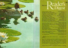 Readers Digest, Vintage Pictures, Vintage Art, Cover, Illustration, Duck Duck, Painting, Journaling, Illustrations