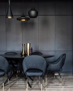 Domestic lockdown agenda in homes. Thank you to all clients and friends to share with us their favourite home corner. Ingo Maurer, Corner House, Living Spaces, Living Room, Dark Interiors, Dining Room Inspiration, Dining Table Chairs, Mid Century Furniture, Apartment Design