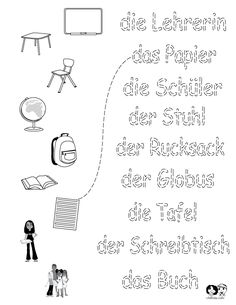 school worksheet german