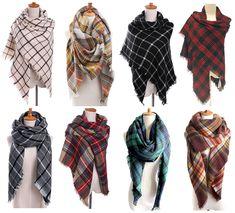 Blanket Scarves// How to Tie