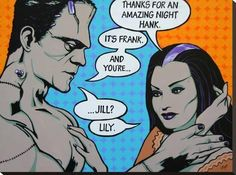Casual Fling by Mike Bell Fine Art Giclee Canvas Print Stretched Canvas Prints, Canvas Art Prints, Minions, Mike Bell, Comic Art, Comic Books, Retro Tattoos, Mom Tattoos, Arte Horror