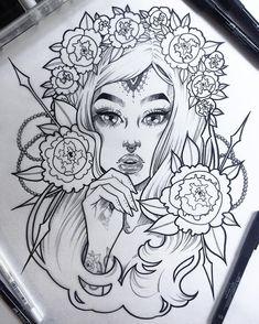 One of two versions of this lass The other will be watercolors. For now, it feels good to finish another ink drawing ✨ #graphicartery #artshare #artwork #myart #sketch #draw #artsy #arte #art #instaart #artnerd2016 #artist #illustration #ink #artistsoninstagram #artcollective2016 #artfido #im_gallery #art_spotlight #art_motive #worldofpencils #juxtapoz #worldofartists #spotlightonartists #instartspics #tattoos