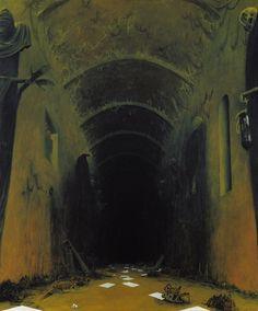 """Zdzisław Beksiński """"Ah76""""-1976, 87 x 73 cm"""