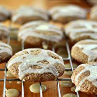 Chewy Molasses Cookies with Crunchy Lemon Glaze by The Kitchn