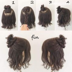 51 Trendy Hair Tutorial Short Messy 51 Trendy Hair Tutorial Short Messy The post 51 Trendy Hair Tutorial Short Messy appeared first on Hair Styles. Medium Hair Styles, Curly Hair Styles, Trendy Hairstyles, Hairstyles For Short Hair Easy, Short Hair Dos, Messy Bun For Short Hair, Short Hair Hacks, Messy Buns, Hairstyles For Going Out