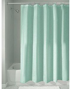 InterDesign Mildew-Free Water-Repellent Fabric Shower Curtain 72x72 Inch Aqua #InterDesign