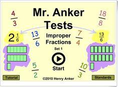 """""""Fracciones impropias"""" (Juego de transformación de números mixtos en fracciones) Fractions, Ideas Para, Education, Improper Fractions, Maths Area, Teaching Resources, Onderwijs, Learning"""