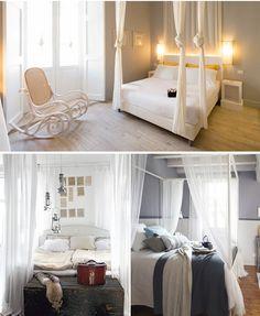 foto di camera da letto in stile in stile country : camera shabby ... - Camera Da Letto Con Baldacchino